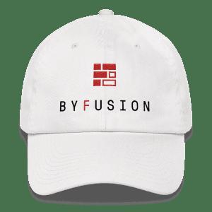ByFusion Logo / Reshape the Future adjustable baseball cap - white, front