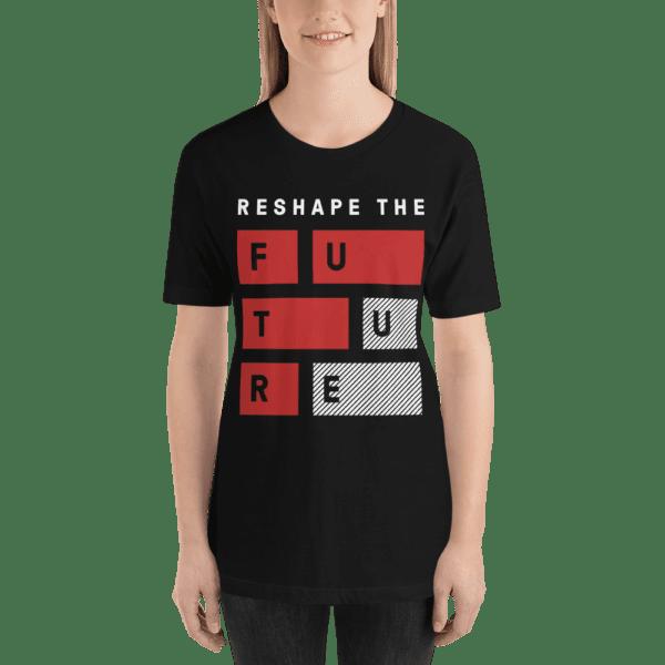 ByFusion Reshape the Future black short sleeve womens t-shirt