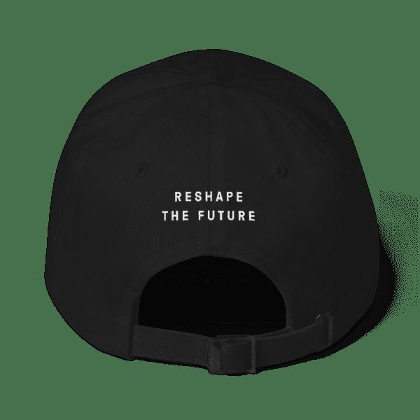 ByFusion Logo / Reshape the Future adjustable baseball cap - black, back