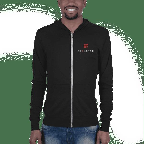 ByFusion Logo black unisex Zip up hoodie m