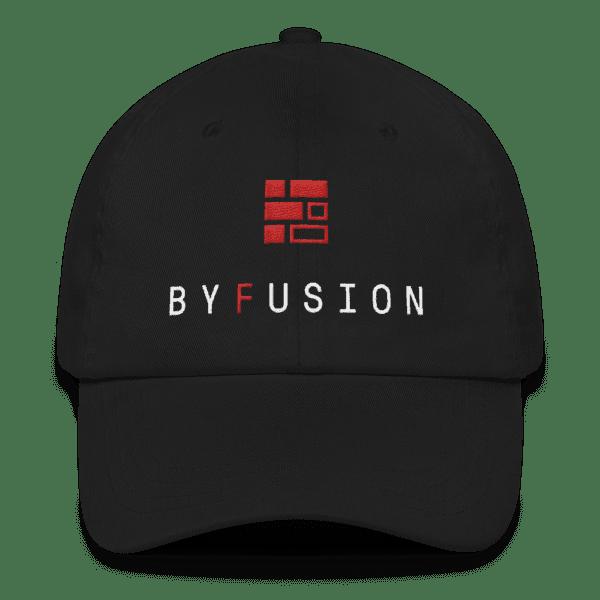 ByFusion Logo / Reshape the Future adjustable baseball cap - black, front
