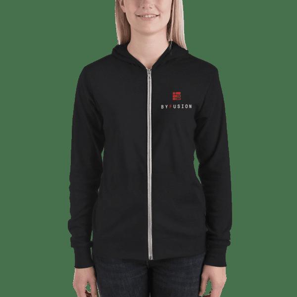 ByFusion Logo black unisex Zip up hoodie w