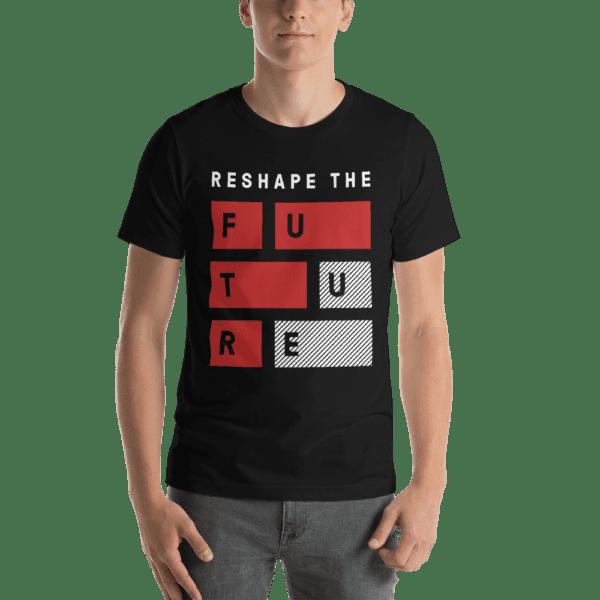 ByFusion Reshape the Future black short sleeve mens t-shirt
